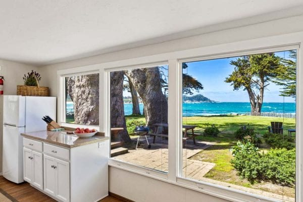 Large Windows offer one of a kind Ocean Views