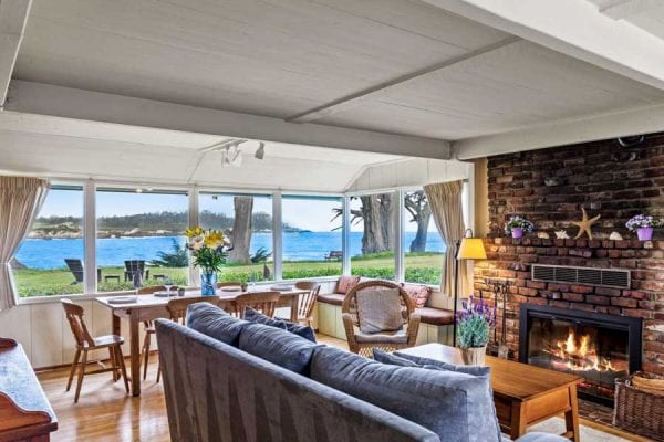 Living Room with Beautiful Views of P oint Lobos State Park