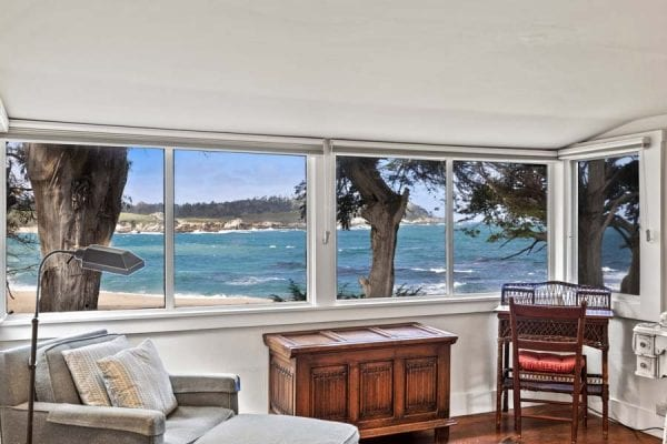 Stunning Ocean Views from Master Bedroom of Point Lobos